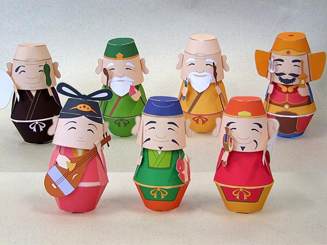 Seven Lucky Gods Papercraft